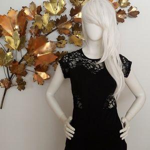 Dresses & Skirts - Black Lace Cut Out Dress